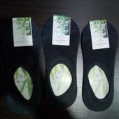 Носки следы супер качества размер 39-43 с силиконовыми вставками на пятке, 3 пары