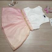 Сток!!! Акция!!! Шикарное нарядное платье, на фатине градиент цвета! Kiabi, 18мес, 11кг, 77-82см!