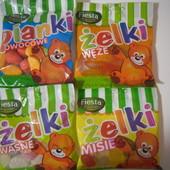 Польша!Очень вкусные желейки!Жевательные конфеты в виде фруктов,мишек,червячков ,80 гр.