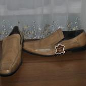Кожанные туфли бренда Brim Stone, р 47 ст 32 см с носиком