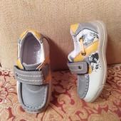 Новые! Дорогие! Фирменный и стильные туфельки! Ортопеды! Р-р 23, стелька 14,5-14,8см!