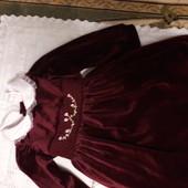 Красивенное велюровое платье