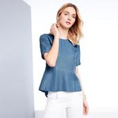 """☘ Обалденная блуза из облегченного """"джинса"""" от Tchibo(Германия), размеры наши: 46-50 (40 евро)"""