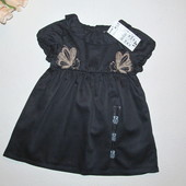 "Фирма ""Kiabi"" Франция. Нарядное платье на девочку. Темно-синее."