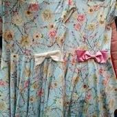Нарядное платье в лоте с белым бантом