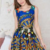 Шикарные летние платья с поясом. Три цвета и размера!! Одно на выбор.
