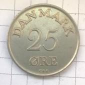 Монета Дании 25 эре 1958
