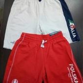 Новые с биркой шорты для мальчика красные и белые, 1 на выбор, р. 146-152 (10-12 лет), нюанс