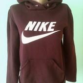 Толстовка Nike, цвет бордо, (плечи 45, рукав 53, пог 52-66)