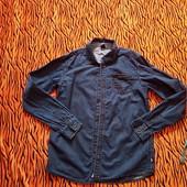 Стоп, классная фирменная джинс рубашка на высокого парня