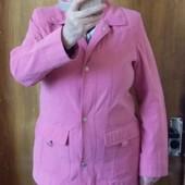 Весенняя тонкая курточка цвета розовая пудра.50-52р