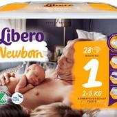Упаковка памперсов либеро для новорождённого