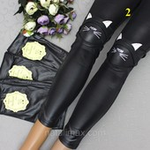 Хлопковые легкие Лосины в имитации искусственная кожа Качественные Есть отзывы От 4-х до 12-14 лет.