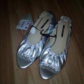 Новые кожаные балетки Zara