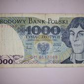 1000 польских злотый и 100 польских злот