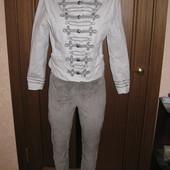 Костюм замшевые брюки и пиджак. размер с,м. Каждая вещь это отдельный лот!