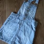 Одним лотом джинсовый сарафан и платье George для девочки 4-6лет