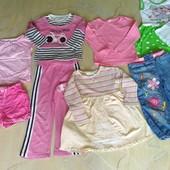 Пакет одежды 7вещей девочке 3-4года