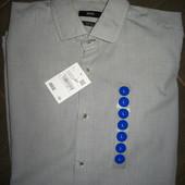 новая мужская рубашка Hugo Boss  p.L(41)  100%коттон (сток на дефекты проверено)