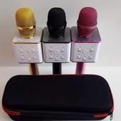 Беспроводной микрофон караоке bluetooth в чехле