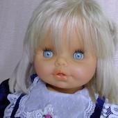Кукла пупс Большая , Германия гдр . Винтажная . рост 65 см. с шикарными волосами в платье.