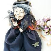 Кукла куколка интерьерная Баба яга