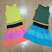 Майка + юбка для девочки! Смотрите замеры! Один на выбор!!