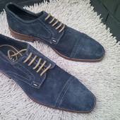 Мужские элитные замшевые туфли stefano rossi Италия новые.