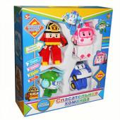 Подарунковий набор из 4 героев Робокар Поли