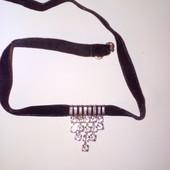 Чокер - украшение на шею, лента бархатная
