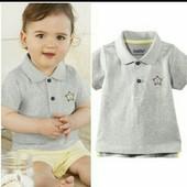 lupilu.хлопковая футболка поло 74/80