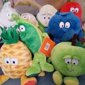 Лот - 1 игрушка на выбор, овощи , фрукты 20-25 см, все новое, внутри камушки для рук.