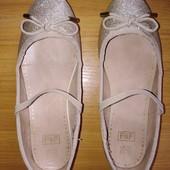 Нарядные золотые туфельки F@F, стелька 20см