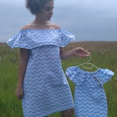 Familya Look,платье волан,мама/дочка!размер М и дочка 2-4 года,в наличии!