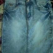 Юбка джинсовая M-L
