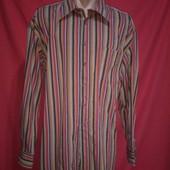 Фирменная рубашка на солидного мужчину в отличном состоянии