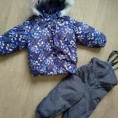 зимний комплект lenne, куртка и комбинезон 1-3 года