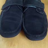 Кожаные (натуральный замш) внутри кожа туфли 39 размер (25 см стелька)