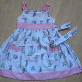 Легенькое платье early days 1-2 года 100% хлопок