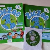 Учебник ZigZag 3 Méthode de Français , диск, тетрадь для 4 клас