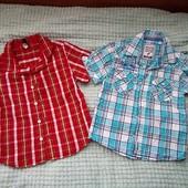 Две летние рубашки на мальчика 4 лет