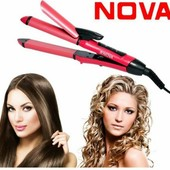 Плойка - утюжок 2в1 Nova с керамическим покрытием! Не повреждает волосы!!!