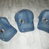 Джинсовая кепка для девочек р48-50.