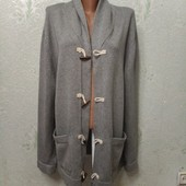 Супер стильный классный серый мужской кардиган Jasper Conran Jeans XL 100%котон