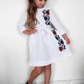 Нежнейшие платья вышиванки для девочек