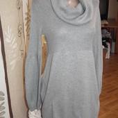 Тепленькое и мягкое платье с хомутиком р 10