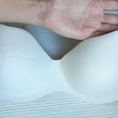 бра бесшовный с&a lingerie 85b, паралон потолщенный, мягусенький, белый с кремовым оттенком