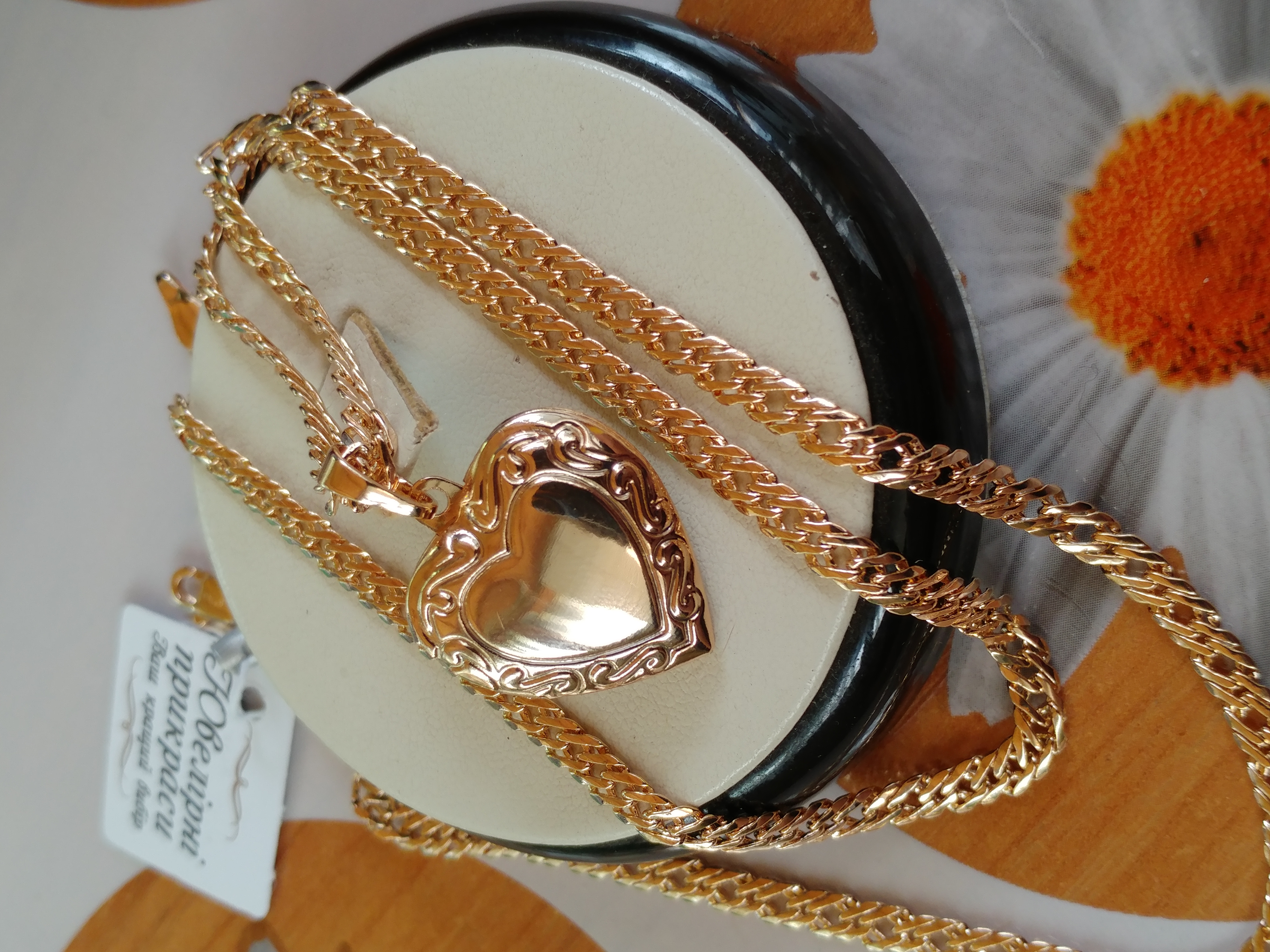 не пропустите! открывающийся медальон-сердце с гравировкой, позолота 585 пробы
