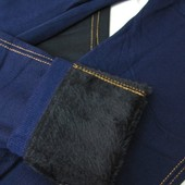 Новые зимние лосины на МЕХу в стиле джинсов, синие джеггинсы 44-54 размер, рост до170см