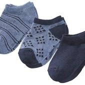 3 пары! Хлопковые низкие носочки lupilu. (размер на выбор 23-26 или 27-30)